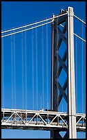 Pillar of Bay Bridge. San Francisco, California, USA (color)