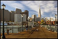 Pier seven and skyline, morning. San Francisco, California, USA ( color)