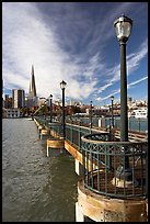 Pier 7 and city skyline. San Francisco, California, USA