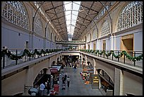 Central nave  of the renovated Ferry building. San Francisco, California, USA (color)