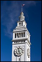 Clock tower of the Ferry building, 204 foot tall. San Francisco, California, USA ( color)