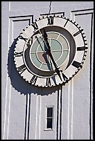 Big clock on the Ferry building. San Francisco, California, USA (color)