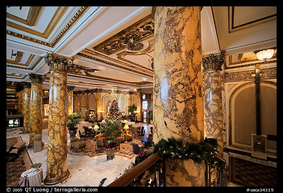 Picture Photo Lobby Of The Fairmont Hotel San Francisco