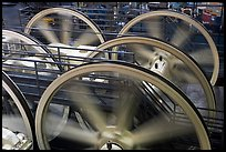 Detail of winding machine. San Francisco, California, USA (color)