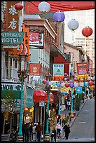 Grant Street, the most commercial street of Chinatown. San Francisco, California, USA ( color)