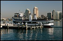 Ferry and skyline, Coronado. San Diego, California, USA ( color)