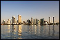 San Diego skyline from Coronado, early morning. San Diego, California, USA (color)