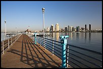 Binoculars, pier, and skyline, Coronado. San Diego, California, USA ( color)
