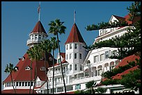Turrets and towers of Hotel Del Coronado. San Diego, California, USA ( color)