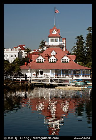 Boathouse restaurant, Coronado. San Diego, California, USA (color)