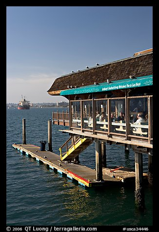 Antony seafood restaurant. San Diego, California, USA (color)