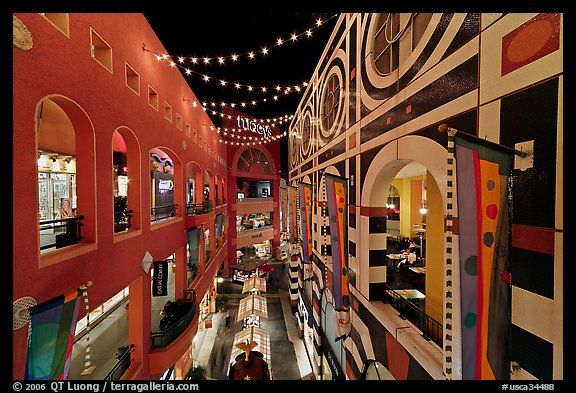 Horton Plaza shopping center, designed by Jon Jerde. San Diego, California, USA (color)