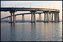 Span of the Bay Bridge, Coronado. San Diego, California, USA (color)