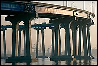 Pilars of the Bay Bridge, Coronado. San Diego, California, USA (color)