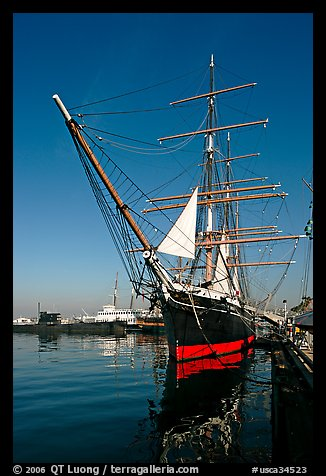 Star of India, the world's oldest active ship, Maritime Museum. San Diego, California, USA (color)