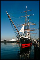 Star of India, the world's oldest active ship, Maritime Museum. San Diego, California, USA