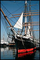 Iron-hulled 1863 ship Star of India, Maritime Museum. San Diego, California, USA ( color)