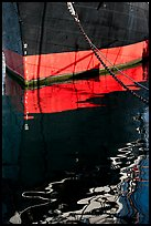 Hull and reflection, Star of India, Maritime Museum. San Diego, California, USA