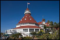 Main tower of hotel Del Coronado. San Diego, California, USA ( color)