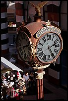 Jessops clock, called the finest street clock in the US. San Diego, California, USA (color)