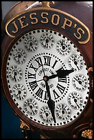 Detail of Jessops clock. San Diego, California, USA ( color)