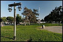 The Plaza, laid out in 1820, Old Town State Historic Park. San Diego, California, USA