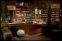Tobacco shop, Old Town. San Diego, California, USA (color)