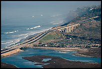 Coastal highway, early morning. La Jolla, San Diego, California, USA (color)