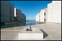 Salk Institute, designed by Louis Kahn. La Jolla, San Diego, California, USA (color)
