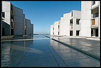 Salk Institude, called architecture of silence and light by architect Louis Kahn. La Jolla, San Diego, California, USA ( color)