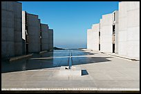 Theodore Gildred court, Salk Institute, mid-morning. La Jolla, San Diego, California, USA