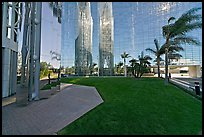 Reflections in  Crystal Cathedral, home of Televangelist Robert Schuller. Garden Grove, Orange County, California, USA
