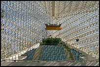 Interior detail of the Crystal Cathedral. Garden Grove, Orange County, California, USA (color)