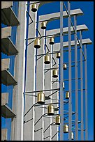Modern arrangement of Bells in the Crystal Cathedral complex. Garden Grove, Orange County, California, USA ( color)