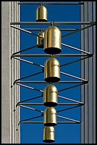 Close up of Bells of  the Crystal Cathedral campus. Garden Grove, Orange County, California, USA ( color)