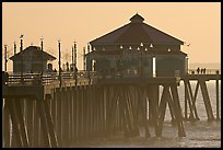 Huntington Pier, late afternoon. Huntington Beach, Orange County, California, USA (color)