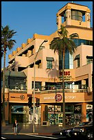 Shopping center on waterfront avenue. Huntington Beach, Orange County, California, USA ( color)