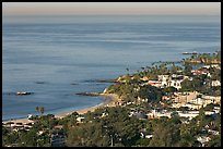 Coast seen from the hills. Laguna Beach, Orange County, California, USA (color)