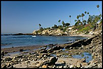 Tidepool and Rockpile Beach. Laguna Beach, Orange County, California, USA (color)