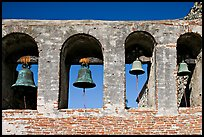 Bell Wall. San Juan Capistrano, Orange County, California, USA (color)
