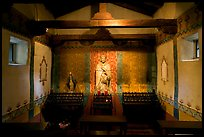 Side chapel dedicated to St Peregrine. San Juan Capistrano, Orange County, California, USA ( color)