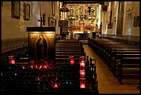 Serra Chapel, the only remaining  church where Fr Serra said mass. San Juan Capistrano, Orange County, California, USA