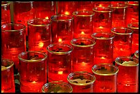 Red candles outside the Serra Chapel. San Juan Capistrano, Orange County, California, USA ( color)
