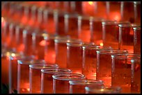 Rows of candles, narrow depth of field. San Juan Capistrano, Orange County, California, USA ( color)