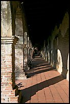 Corridor. San Juan Capistrano, Orange County, California, USA