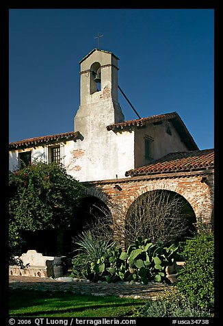 Bell tower. San Juan Capistrano, Orange County, California, USA (color)