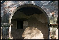 Arch in central courtyard. San Juan Capistrano, Orange County, California, USA ( color)