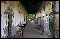 Corridor around the central courtyard. San Juan Capistrano, Orange County, California, USA ( color)