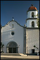 Mission basilica,  afternoon. San Juan Capistrano, Orange County, California, USA (color)