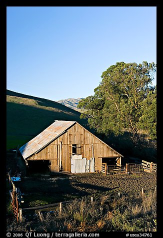 Old wooden barn. Morro Bay, USA (color)